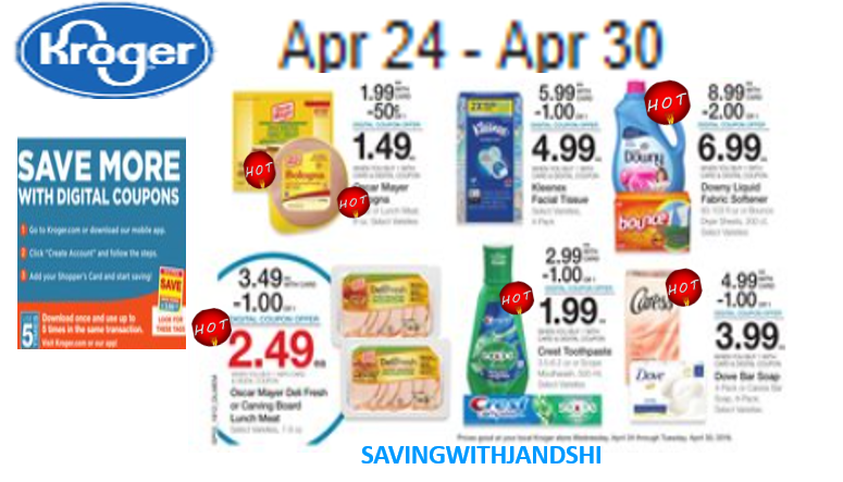 KROGER AD APRIL 24 THRU 30, 2019 – Saving with Jan and Shirl